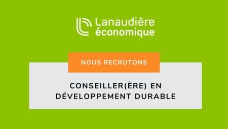 OFFRE D'EMPLOI – CONSEILLER(ÈRE) EN DÉVELOPPEMENT DURABLE