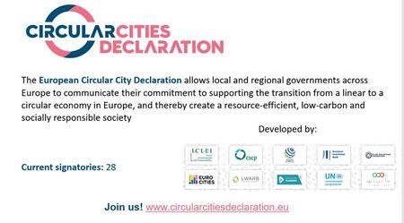 Les grandes villes Européennes signent la Déclaration des villes circulaires européennes et invitent leurs pairs à les rejoindre