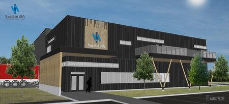 Société VIA débute la construction d'un nouveau centre de tri à Rivière-du-Loup
