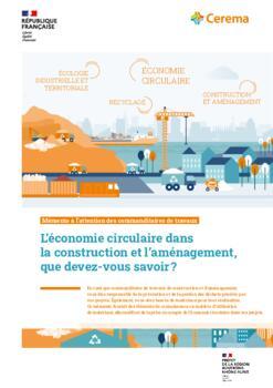 L'économie circulaire dans la construction et l'aménagement