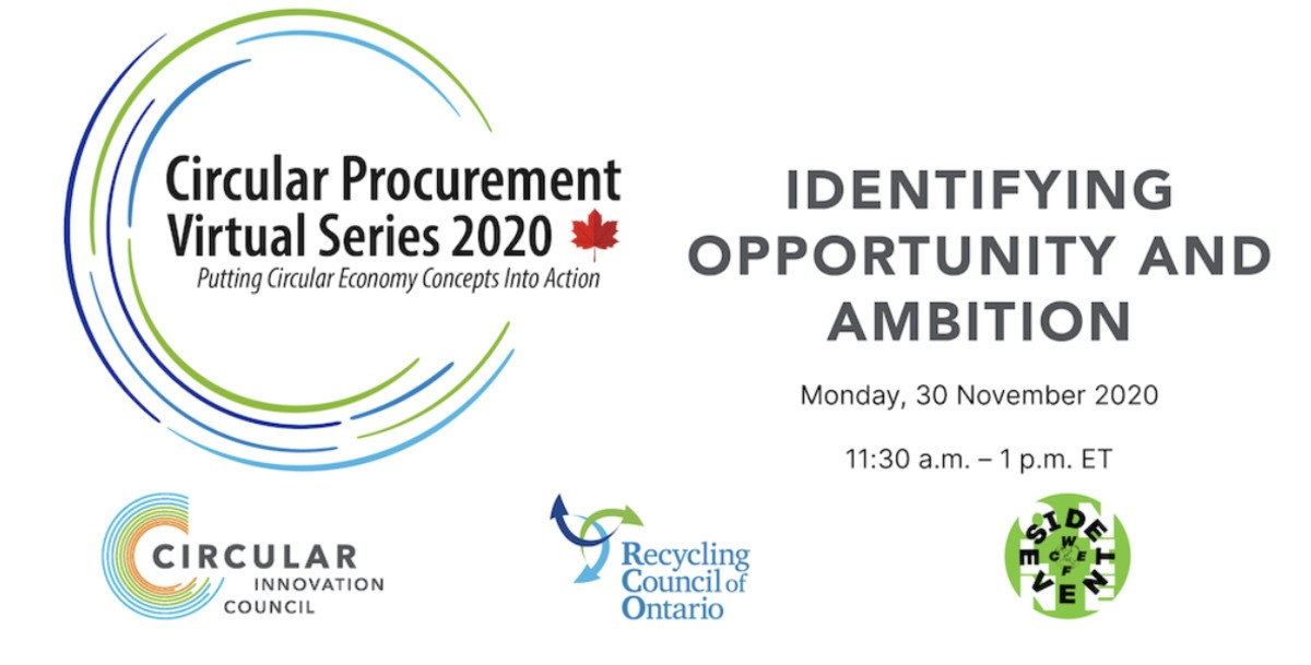 Circular Procurement Virtual Series 2020: Identifying Opportunity and Ambition