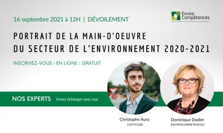 Dévoilement: Portrait de la main-d'œuvre du secteur de l'environnement 2020-2021