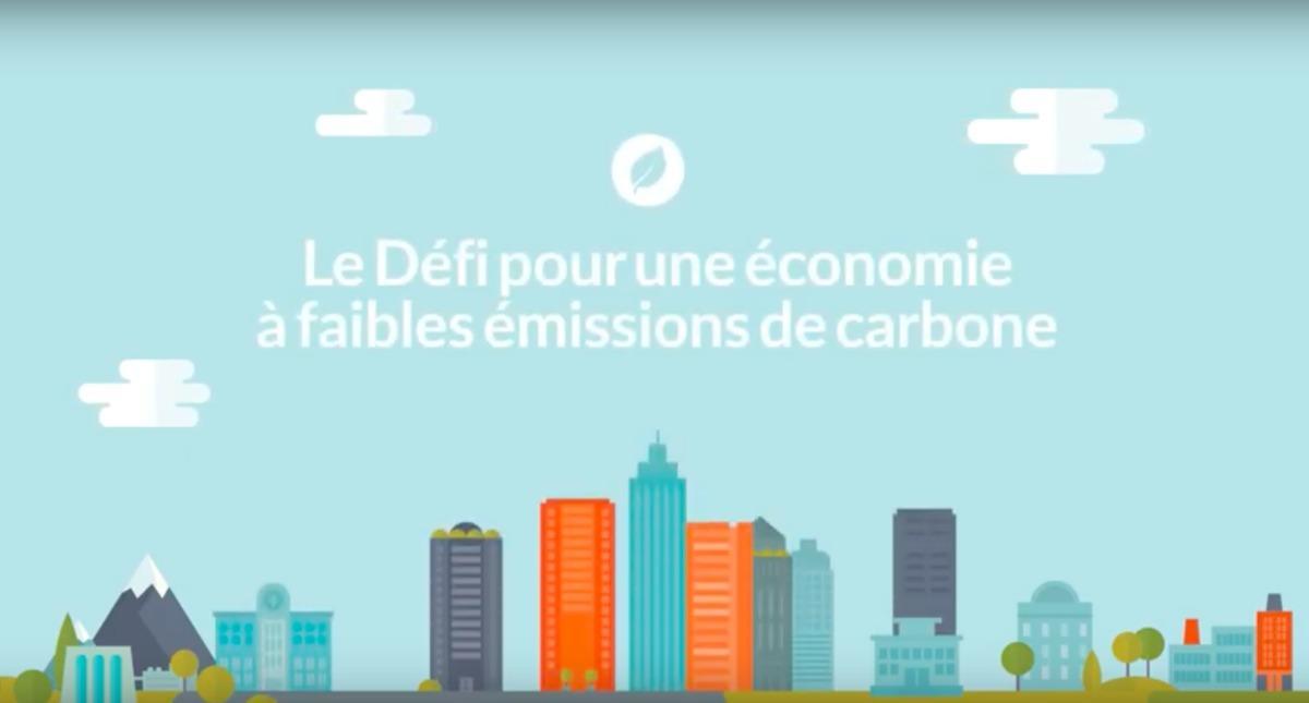 Défi pour une économie à faibles émissions de carbone