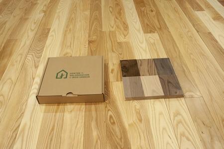 Un plancher de bois franc fabriqué à partir d'arbres urbains à 100 %