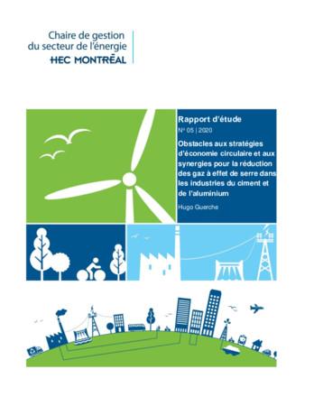 Obstacles aux stratégies d'économie circulaire et aux synergies pour la réduction des gaz à effet de serre dans les industries du ciment et de l'aluminium
