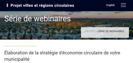 Élaboration de la stratégie d'économie circulaire de votre municipalité | PROJET VILLES ET RÉGIONS CIRCULAIRES
