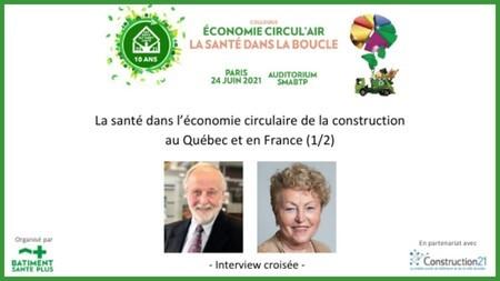 La santé dans l'économie circulaire de la construction au Québec et en France