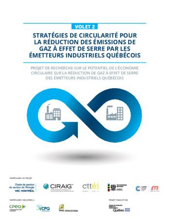 Stratégies de circularité pour la réduction des émissions de GES par les émetteurs industriels québécois | Volet 2