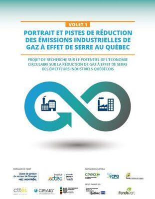 Potentiel de l'économie circulaire sur les réductions d'émissions de GES des émetteurs industriels québécois | Volet 1