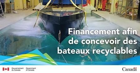 Des bateaux recyclables au Canada?