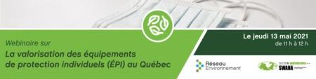 Webinaire: La valorisation des équipements de protection individuels au Québec