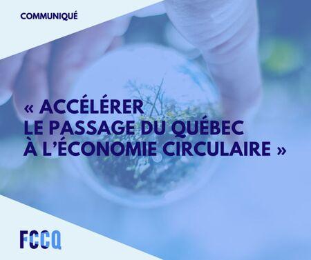 Grande tournée des 17 régions du Québec sur le thème de l'économie circulaire dès cet automne
