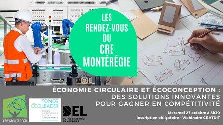 Économie circulaire et écoconception: des solutions innovantes pour gagner en compétitivité