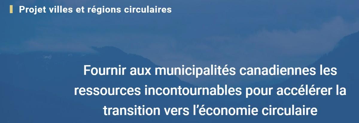 Lancement du projet Villes et Régions Circulaires