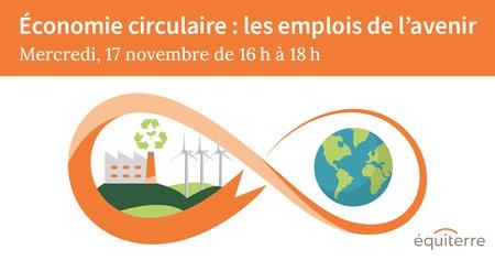 Économie Circulaire: les emplois de l'avenir - Événement-bénéfice 2021